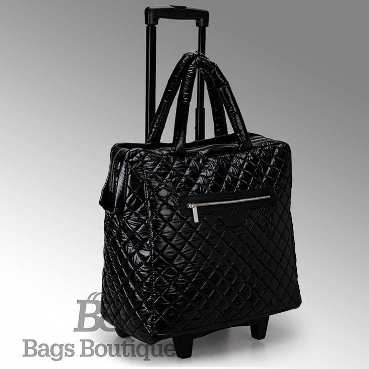 Чемодан Chanel Quilted Nylon Trolley Bag (Дорожная сумка Троллей нейлона с простежкой)