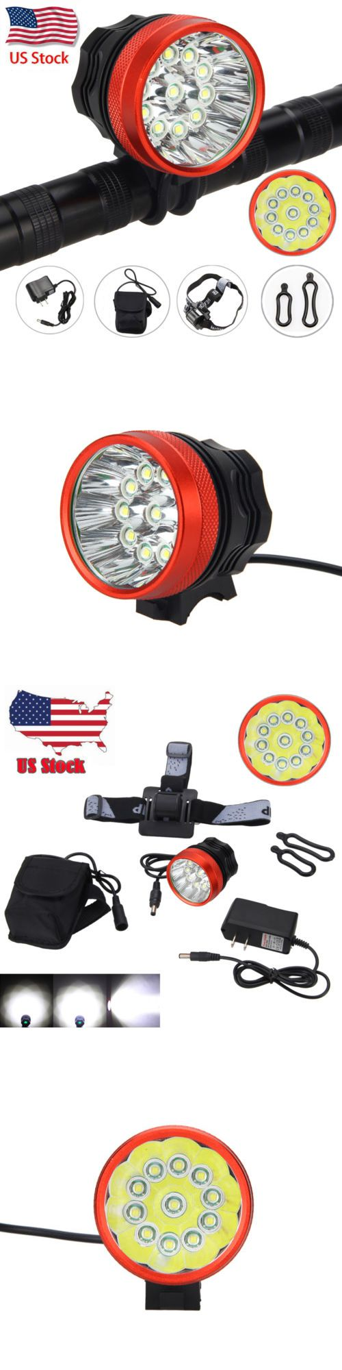 Lights and Reflectors 22689: Rechargeable 30000Lm 11Xxml T6 Led Bicycle Bike Mtb Light Lamp Headband+12000Mah -> BUY IT NOW ONLY: $32.99 on eBay!