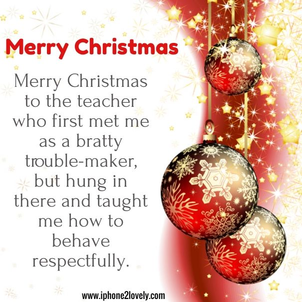 Christmas Poems Teacher | Merry Christmas Quotes Wishes & Poems ...