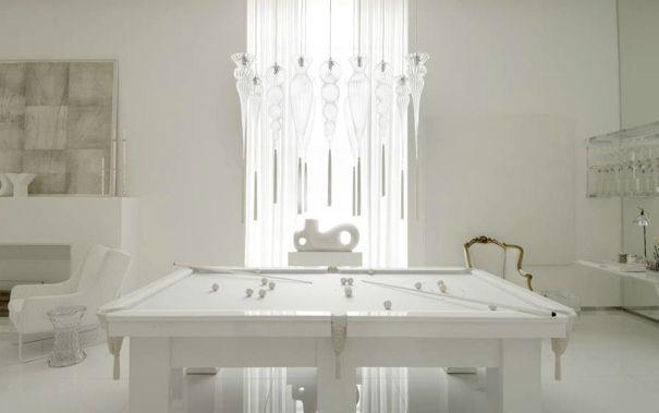 mesa de sinuca branca