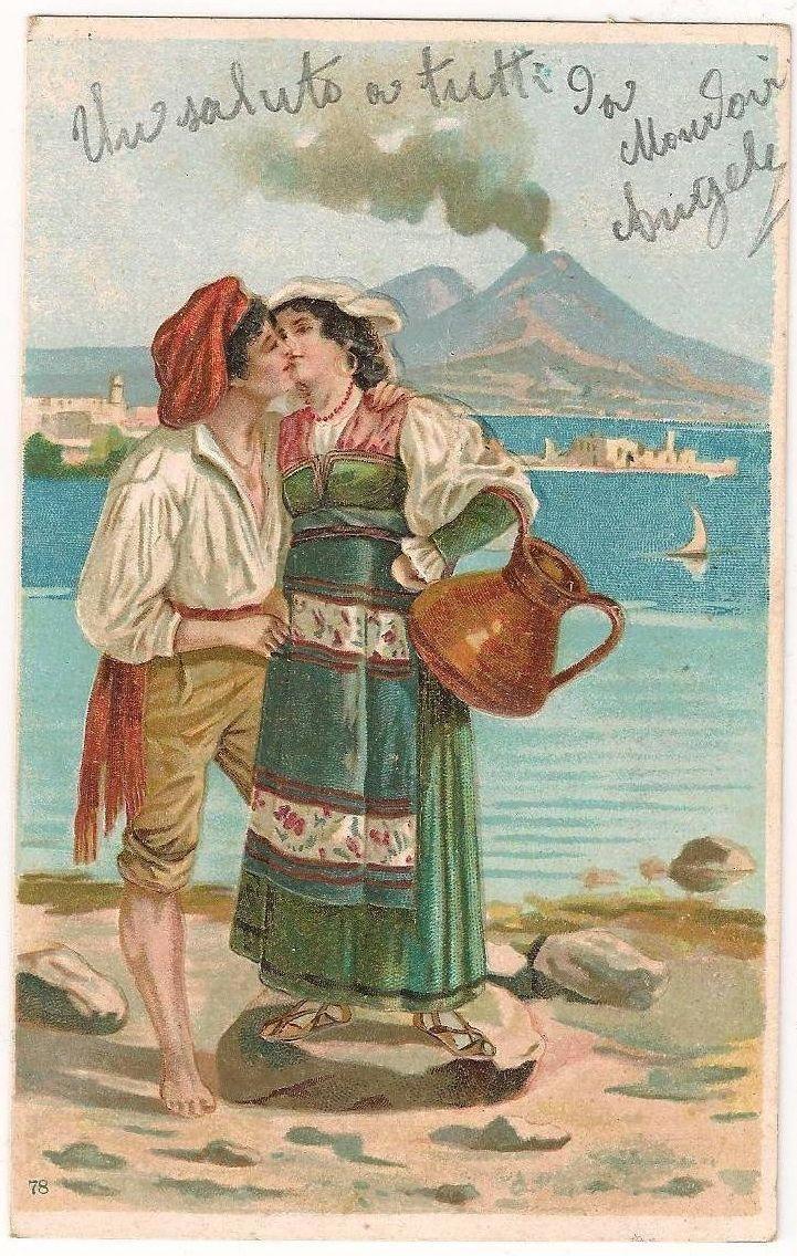 Старинные итальянские открытки, как открытка