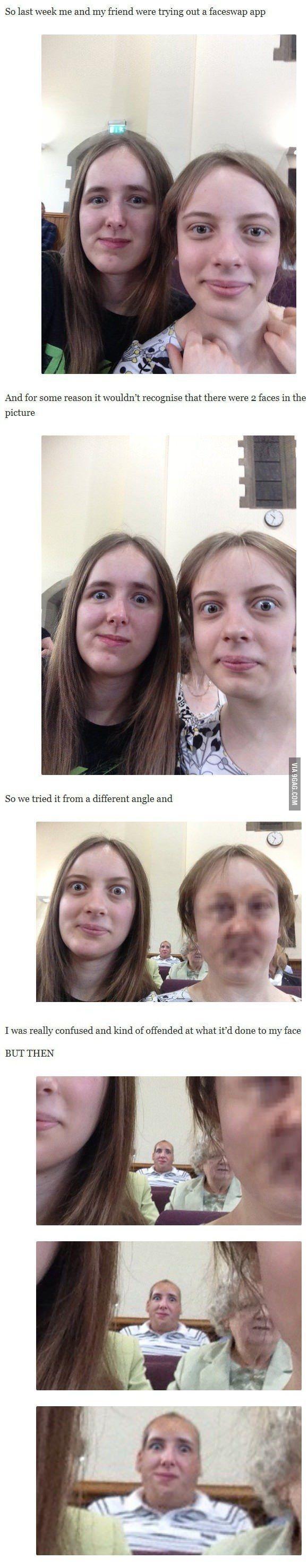 The failed face-swap:
