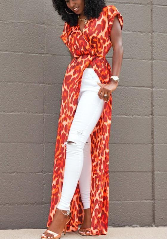 For juniors sale V Neck Slit Printed Sleeveless Maxi Dresses online south