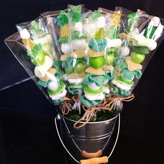 A bouquet of sweet candy candykabob green apple by