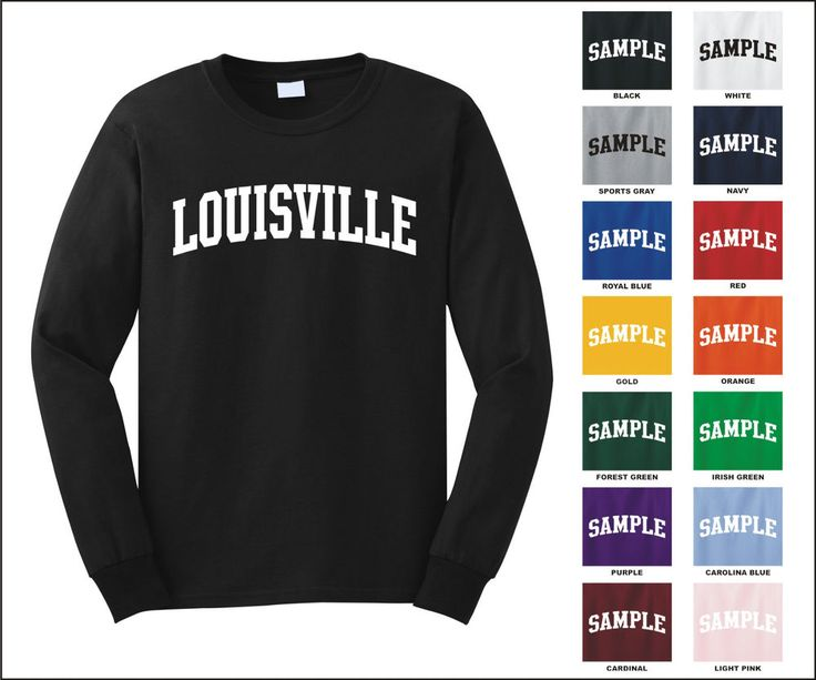 City of Louisville College Letter Long Sleeve Jersey T-shirt #Gildan #PersonalizedTee