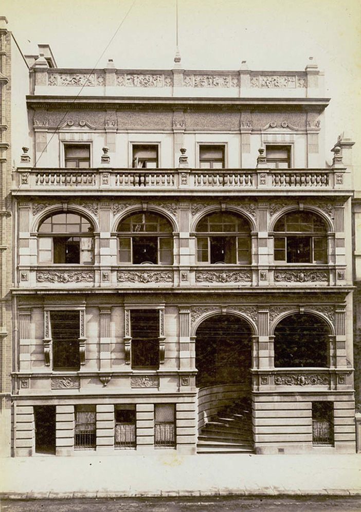 German Club,Phillip Street,Sydney in c1900-10.Photo from Dictionary of Sydney.A♥W