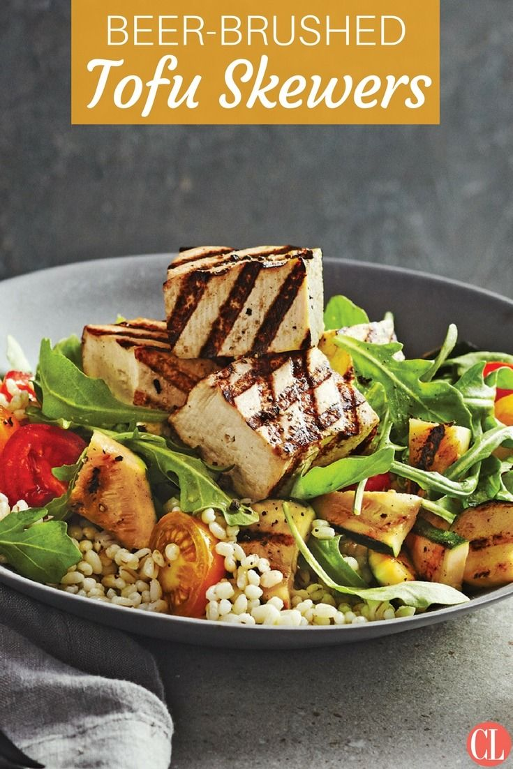 Tofu gets a grilled treatment in this