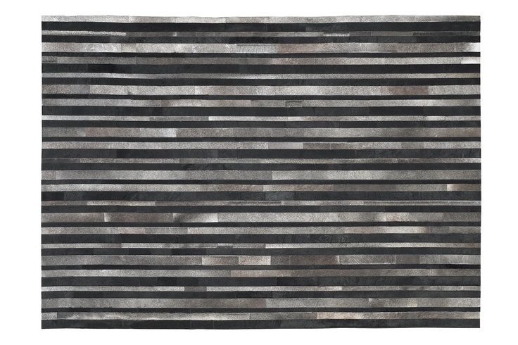 The museo rug by natuzzi is made of italian leather strips hand sewn together very unique - Natuzzi vancouver ...