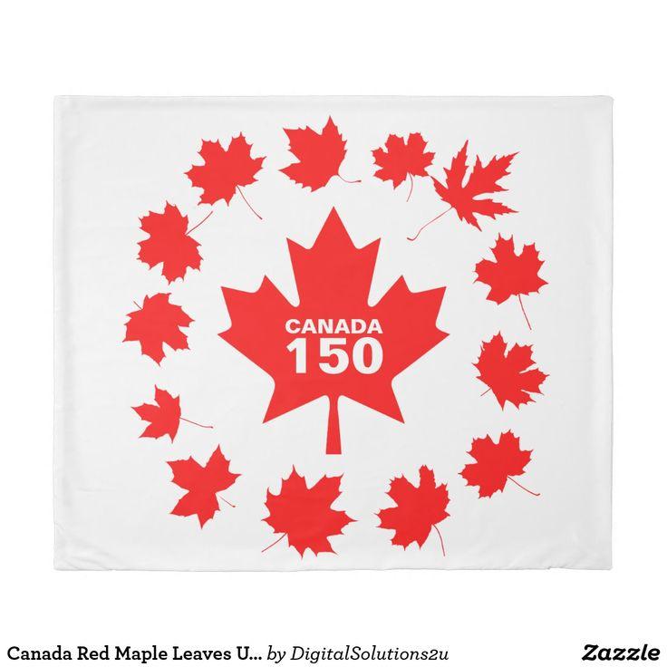 Canada Red Maple Leaves Unique Duvet Cover