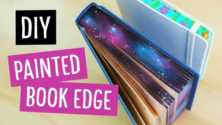 DIY Galaxy & Floral Painted Book Edge | Sea Lemon