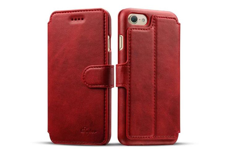 best Fashion iphone 7 Cases leather wallet Red