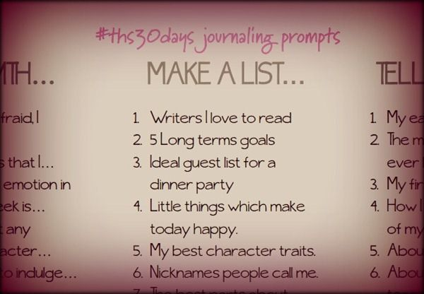 Contains a link to journaling list(s) and journaling prompts! ...