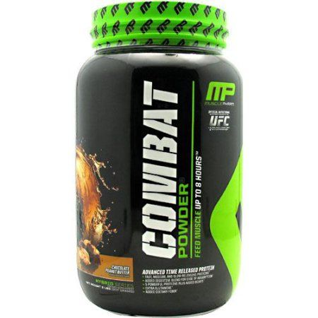 Muscle Pharm Combat Powder Chocolate Peanut Butter - 2 lbs (907 grams), Brown