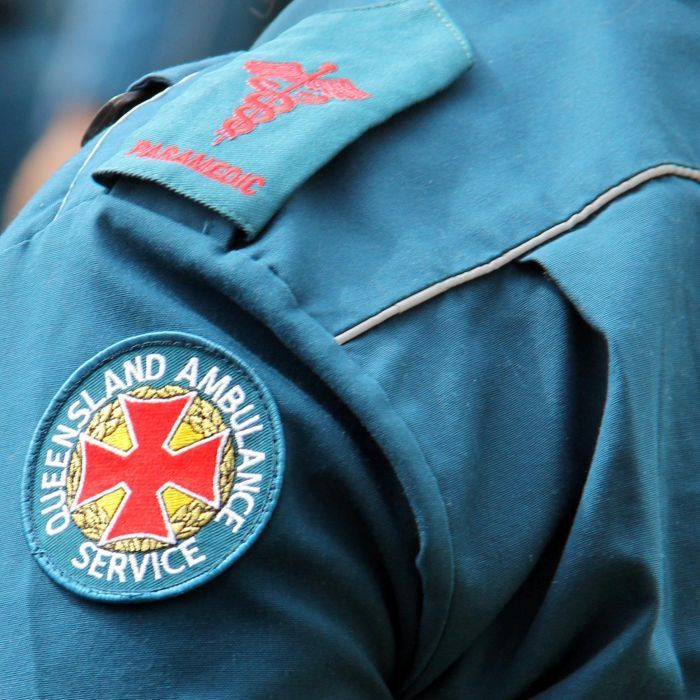 A Queensland paramedic stabbed in the stomach by a woman demanding drugs on Fraser Island thanks the first responders who came to his rescue.