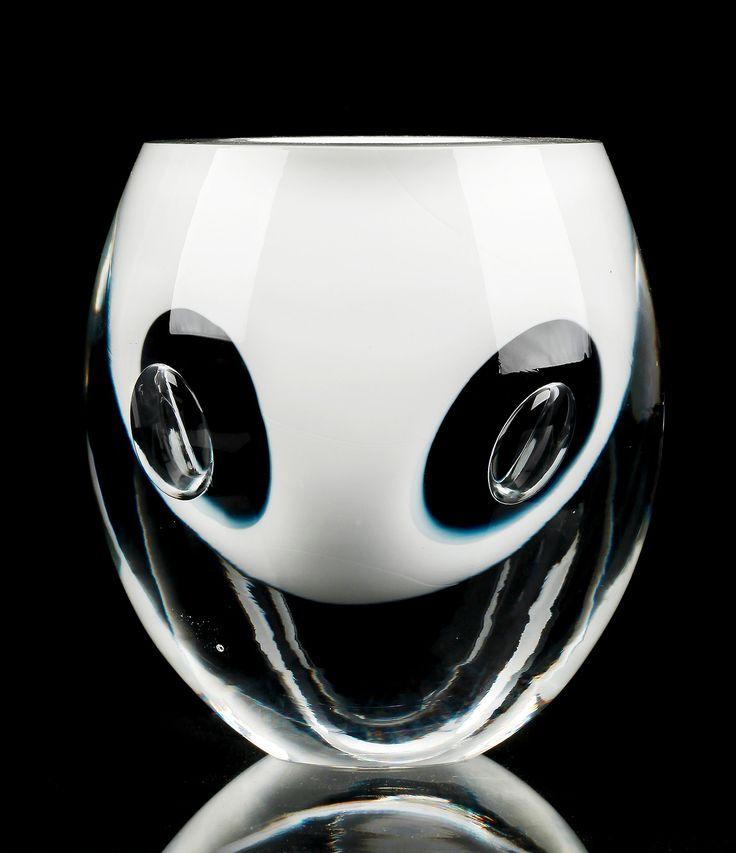 Timo Sarpaneva (Finnish, 1926-2006), Claritas vase, 1985/1989. Manufactured by Iittala, Finland. Mouth blown glass.