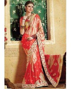 Bandhani Printed Shaded Saree