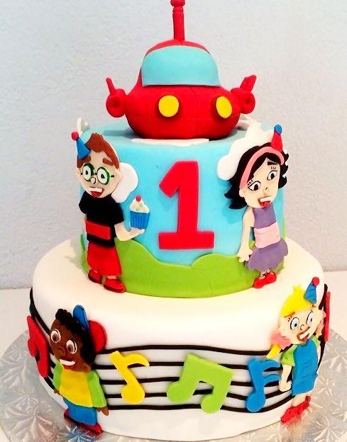 Little Einsteins Birthday Cake  http://www.hmcupcakes.com/