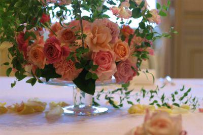 木の家と晩餐会 あるホテル様への装花