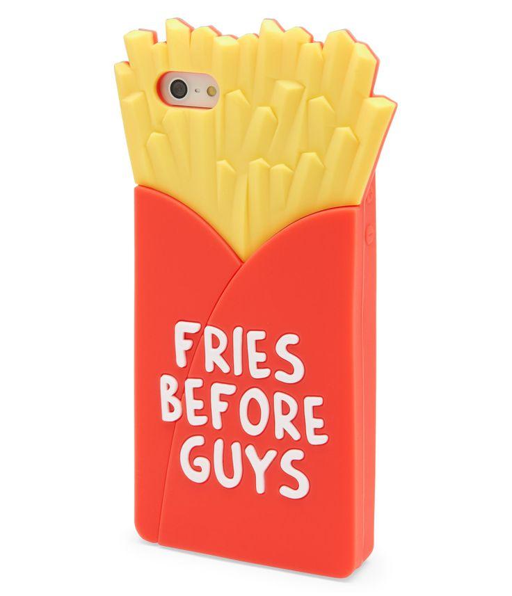 Coque de téléphone en forme de barquette de frites : FRIES BEFORE GUYS #LaBouffeCLaVie