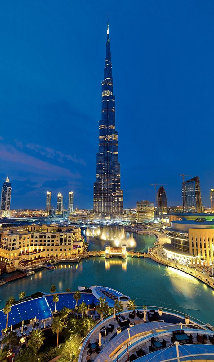 The Burj Khalifa is the tallest man made structure in the world. A lucky city to have such impressive architecture!