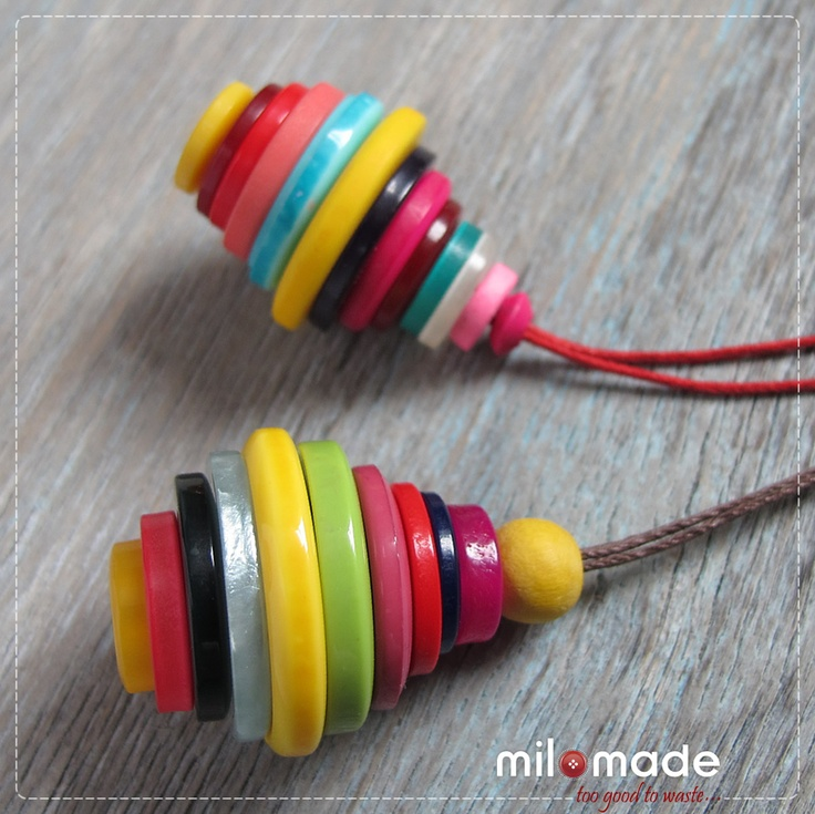 Button Jewelry, Christmas ornaments, gift wrap tassles, key chains, more?