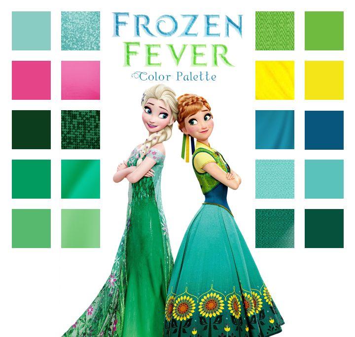 Frozen Fever color palette