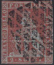 Toscana, 2 soldi scarlatto su azzurro n.3, Certificato, Cv 15.000