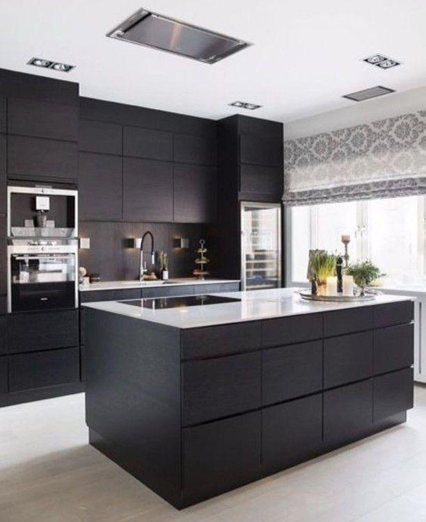 Documenting Inspiration Black Design Interiordesign Decorating Blackinter Interior Kitchen Small Cabinet Trends