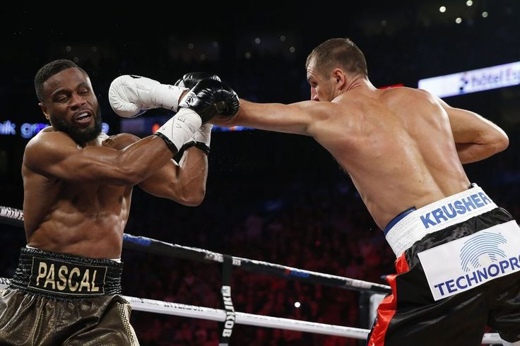 Here are the boxing results from the WBA (Super), WBO, and IBF light heavyweight title fight between Sergey Kovalev and Jean Pascal. http://www.potshotboxing.com/sergey-kovalev-krushes-jean-pascal-again/