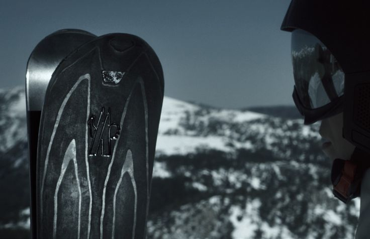 zai & moncler grenoble skis blend carbon, steel and aluminum  www.designboom.com