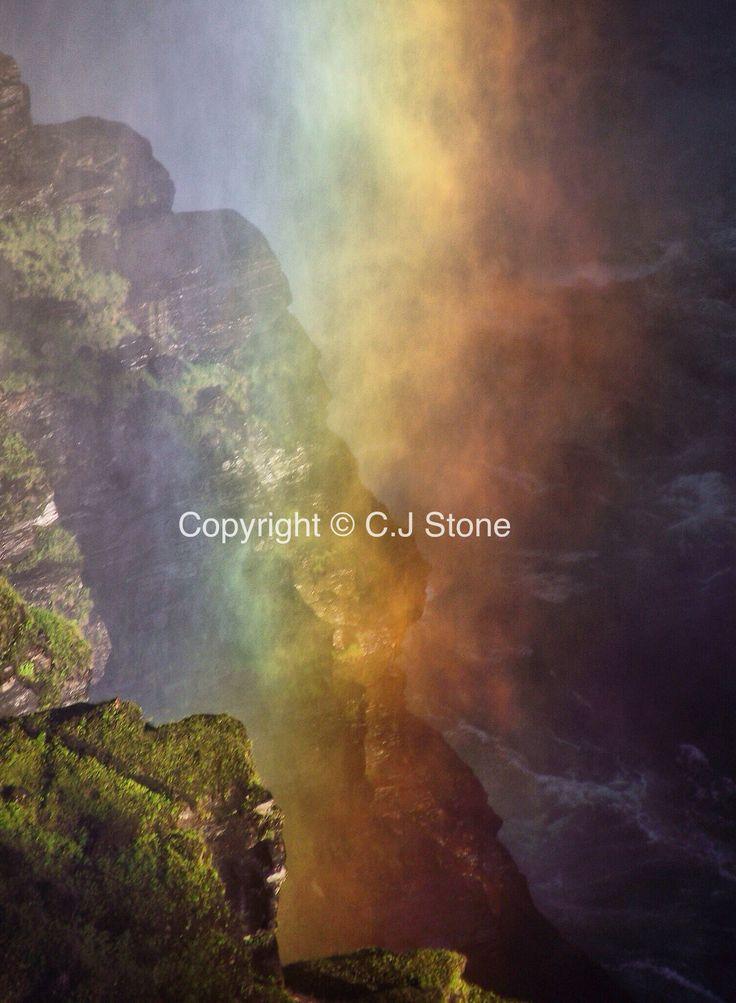 Rainbow at the falls, Well's Gray, British Columbia