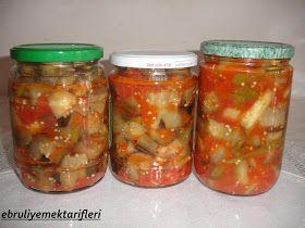 yaz biterken yavaş yavaş kış hazırlıklarına başladım. İlk olarak sizlerle kış için yapmış olduğum konservelerimi paylaşacağım.Patlıcan, Me...