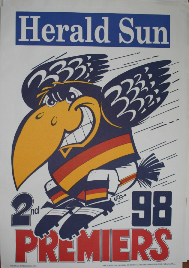 Weg Premiers Poster 1998 Adelaide Crows