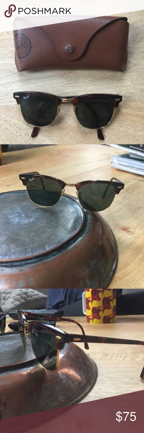 Authentic women's  Ray Ban club master sunglasses Authentic women's ray bans club master style. Tortoise color. In good condition Ray-Ban Accessories Sunglasses