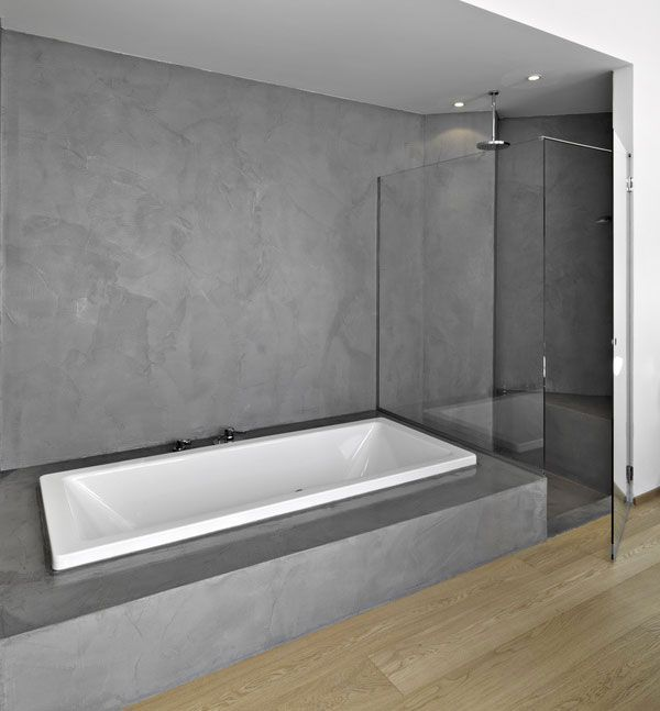 B Ton Cir Salle De Bain Kitbetoncire Concrete Pinterest Concrete Bathroom Concrete And