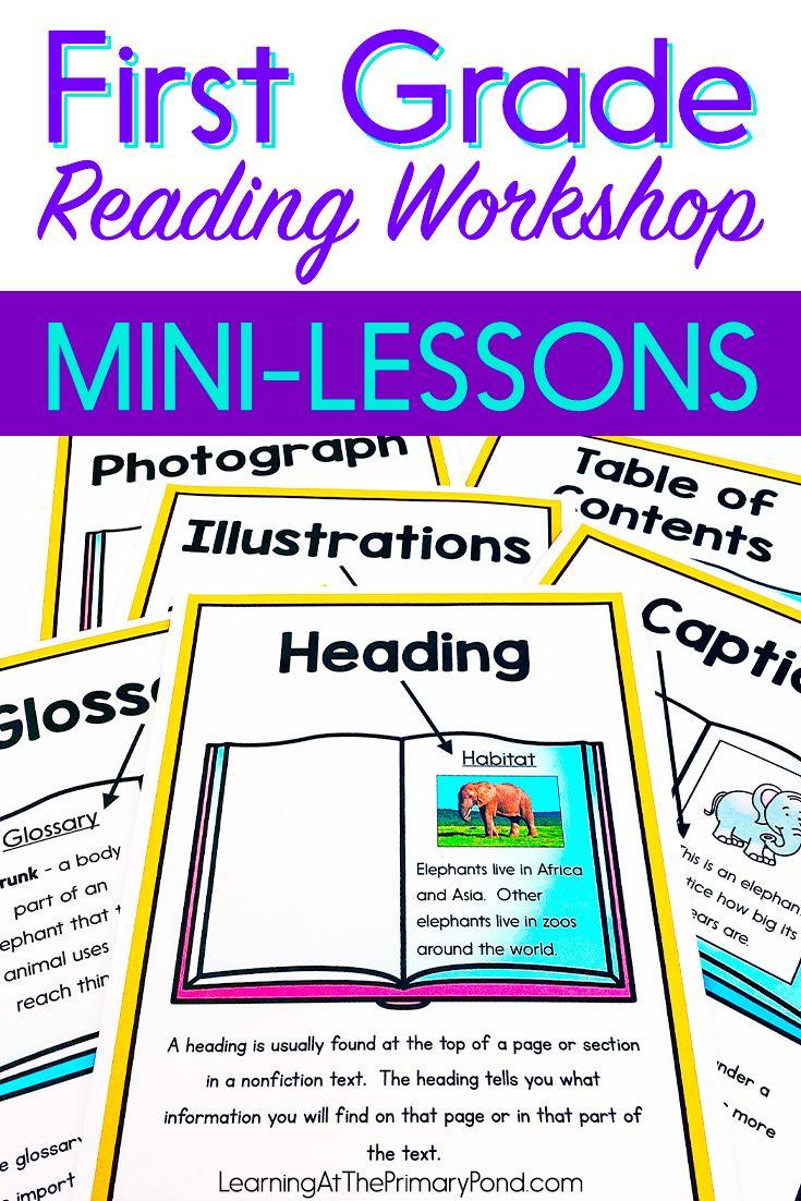 First Grade Reading Workshop Bundle Of Shared Reading Lessons Reading Workshop Mini Lessons First Grade Reading Reading Workshop Reading mini lessons grade