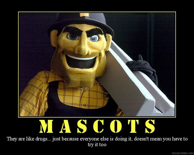 Steely McBeam - brief Steeler mascot was a one year gig but still shows up now and again