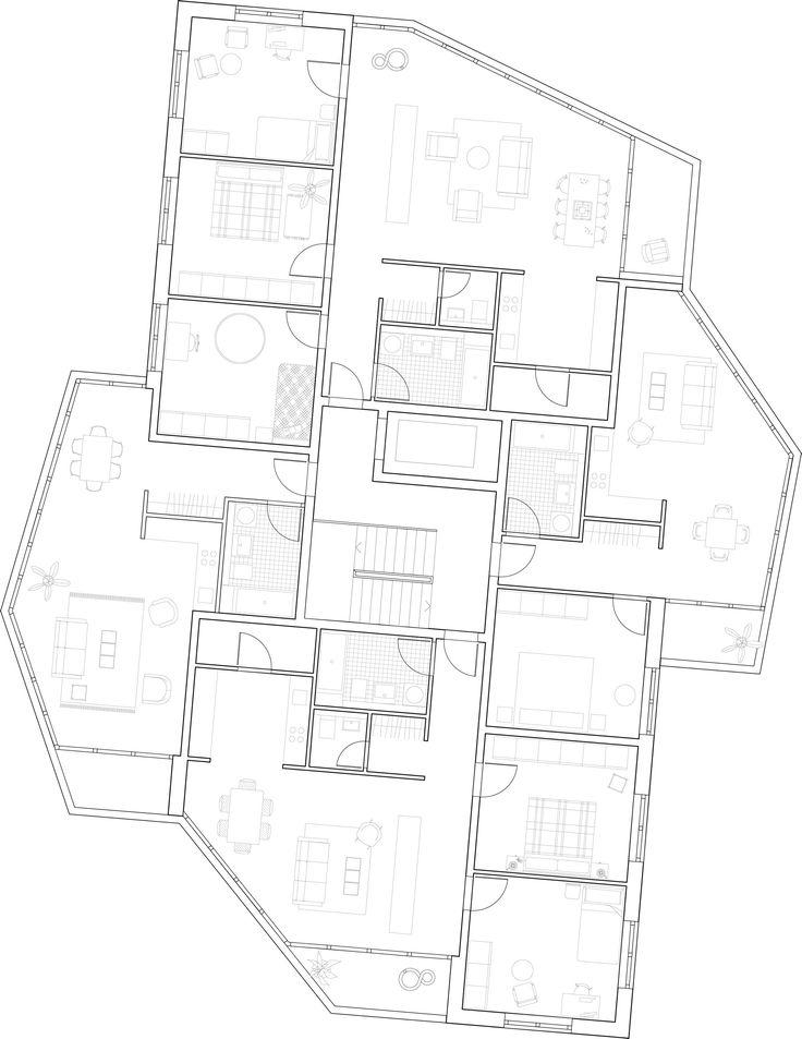 1. Rang: Grundriss Regelgeschoss, © 03 Arch.