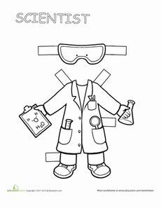 Career Paper Dolls: Scientist Worksheet