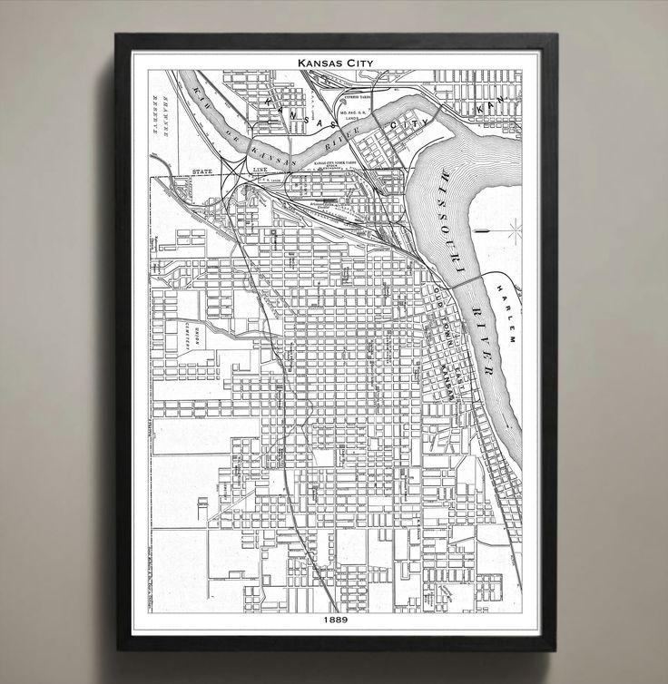 Map Print Kansas City