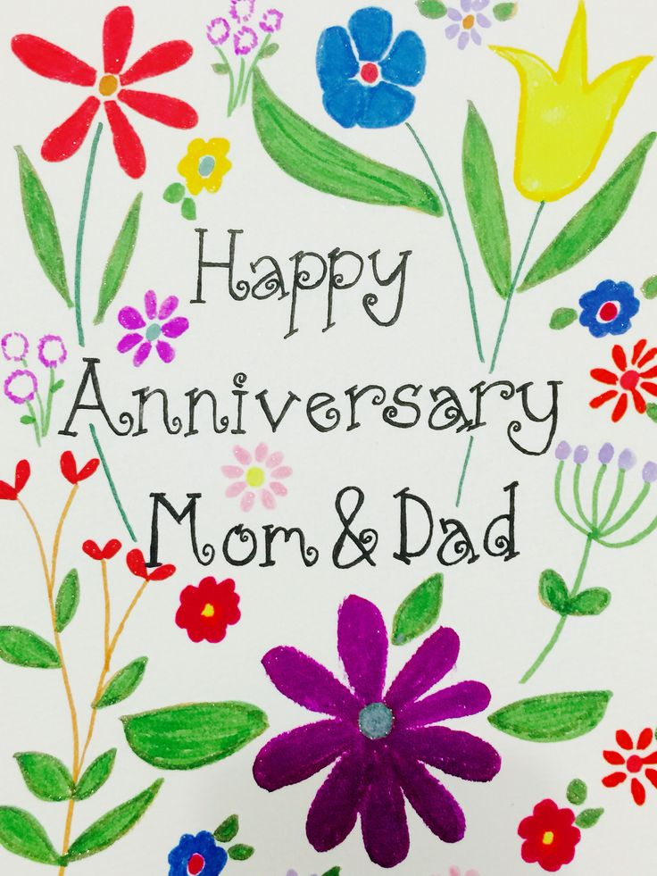Happy anniversary mom and dad! Happy anniversary parents