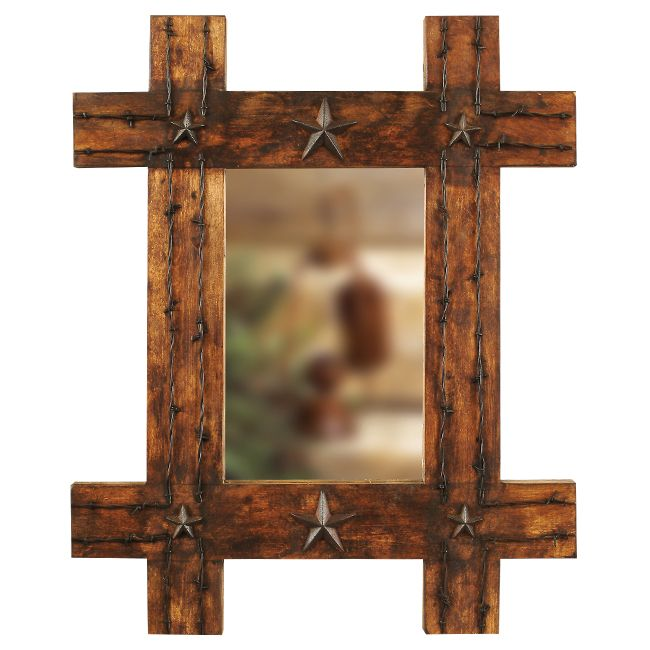 Featuring Western Mirrors Tooled Leather And Barnwood Framed At Lone Star Decor Your Online Source For Cowboy Furnishings