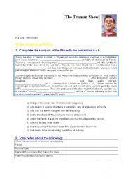 English worksheet: The Truman Show