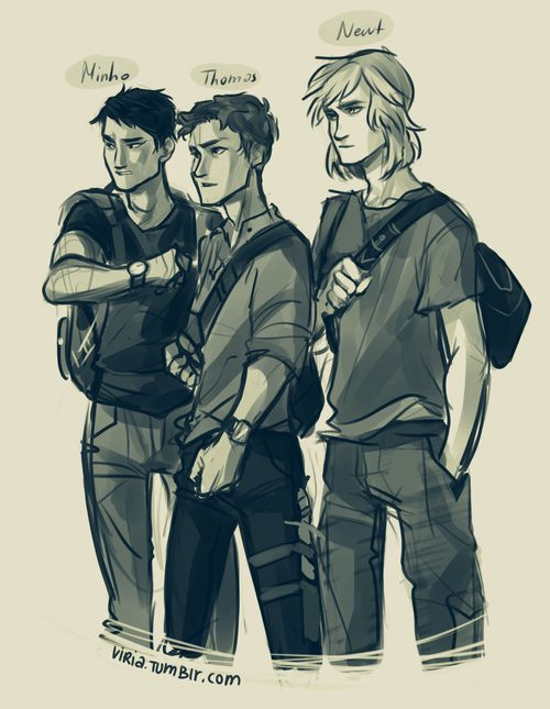 Viria's art is amazing. I especially love this drawing of Minho, Thomas, and Newt from The Maze Runner!