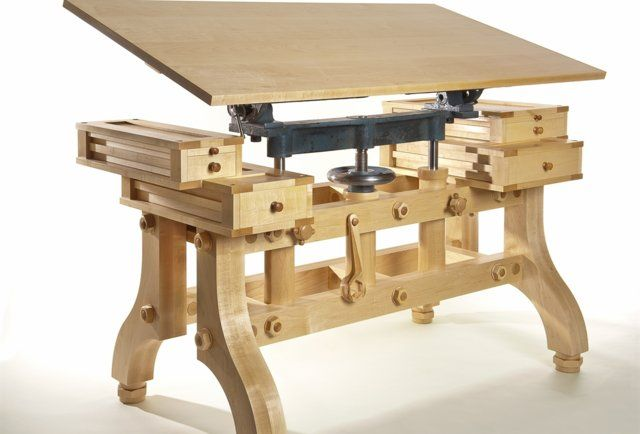 I want this drafting table...    The Fine Art of Woodworking - Own - Thrillist