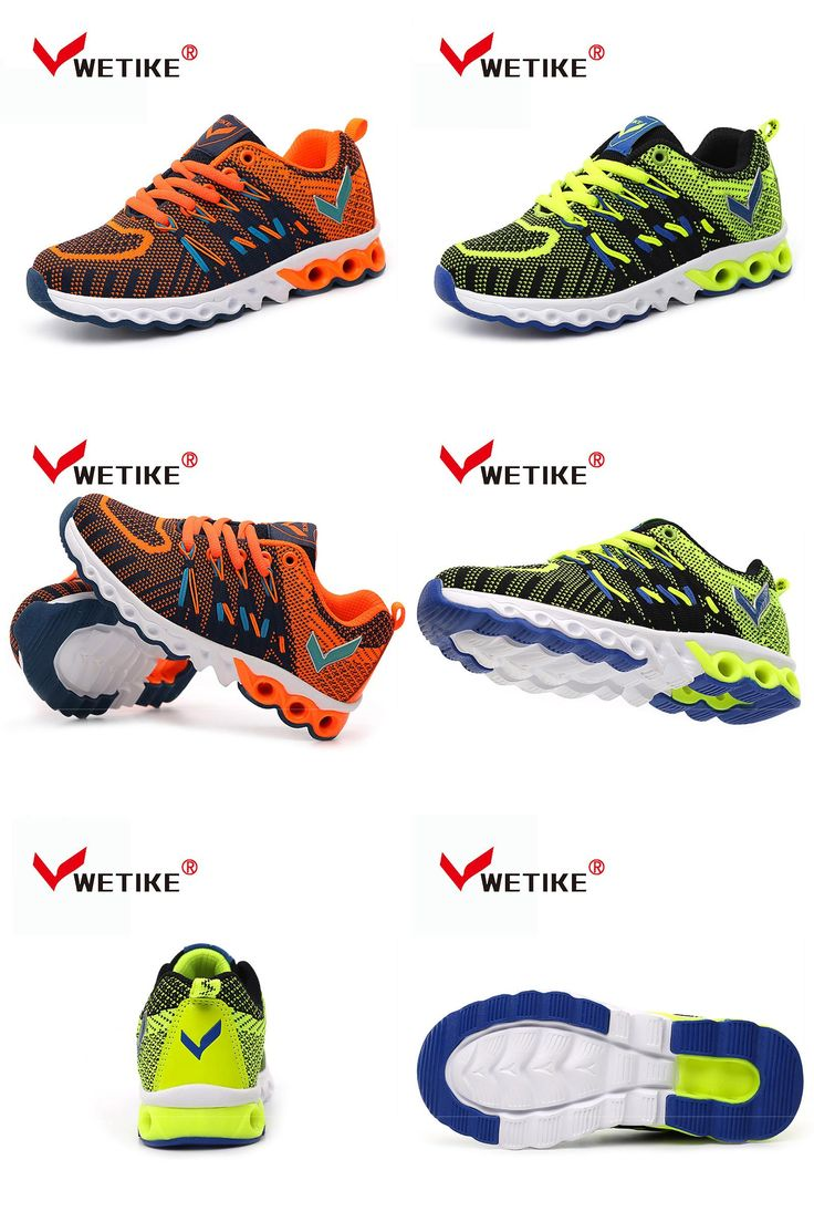 [Visit to Buy] WETIKE  Boys Girls Running Shoes Breathable Mesh Outdoor Sports Shoes For Kids Children's Sneakers Lightweight Flat Sneakers #Advertisement