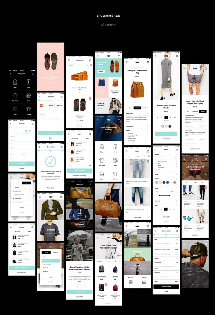 Fair Mobile UI Kit on App Design Served