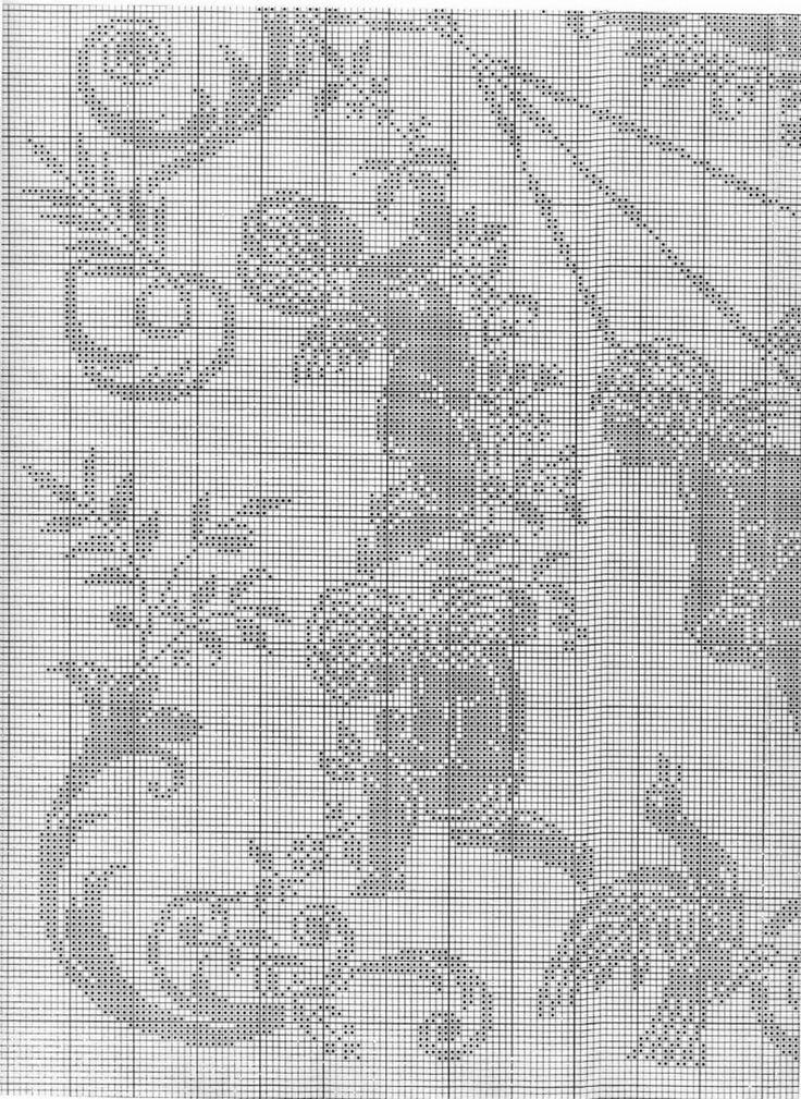 Качели монохром вышивка вязание крючком схема 4