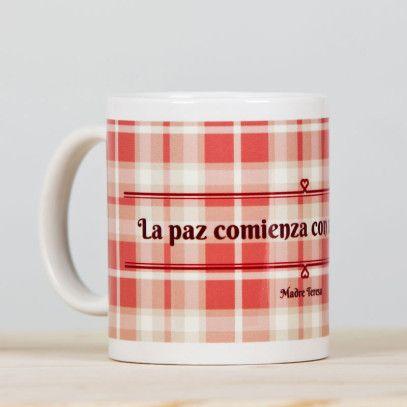 "Taza ""Madre Teresa"" Sonrisa - Luminaria Regalos Cristianos 9,50€"