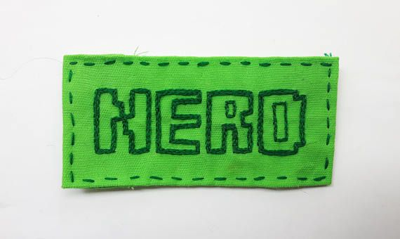 Hand embroidered patch. Nerd patch. Sew on patches for